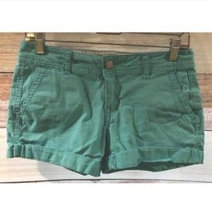 Aeropostale Womens Mint Green Shorts Twill Size 2